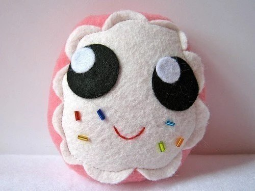 Sprinkled Pink Donut Plush - mypapercrane
