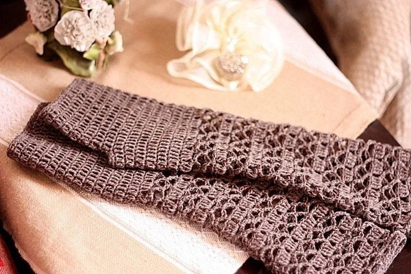 Crochet PATTERN (pdf file) -Melange fingerless gloves