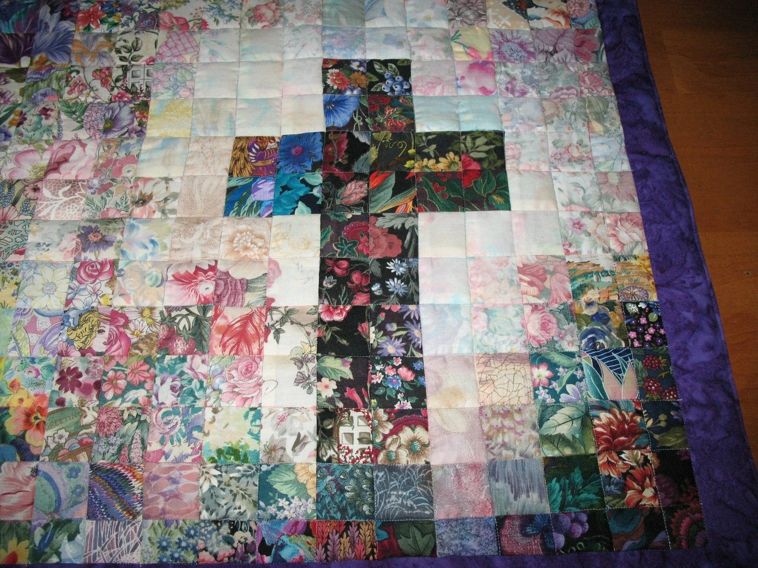 Art Quilt - Quilted Cross - Wallhanging - Watercolors - Custom Order