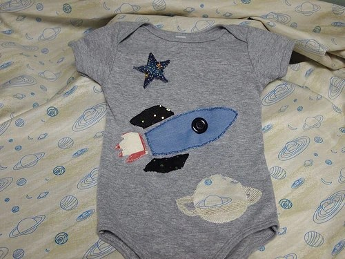 Boys Rocket Onesie and Tee Available for infants and toddlers