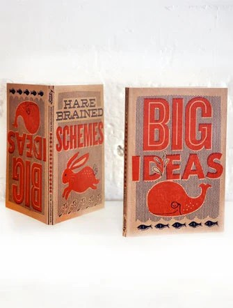 "Big Ideas- Reversible Letterpress Journal 5""x7"""