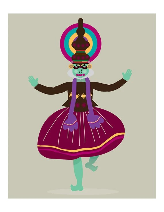 Indian Kathakali Dancer India Wall Art Print 8x10 LIMITED EDITION