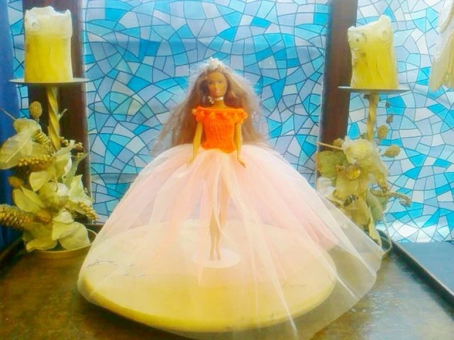 New handmade BARBIE Clothes CHRISTMAS BALLGOWN Doll dress, (nannycheryl original)    908  x  77