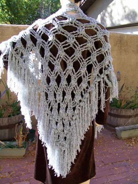 crocheted shawl--Reflections