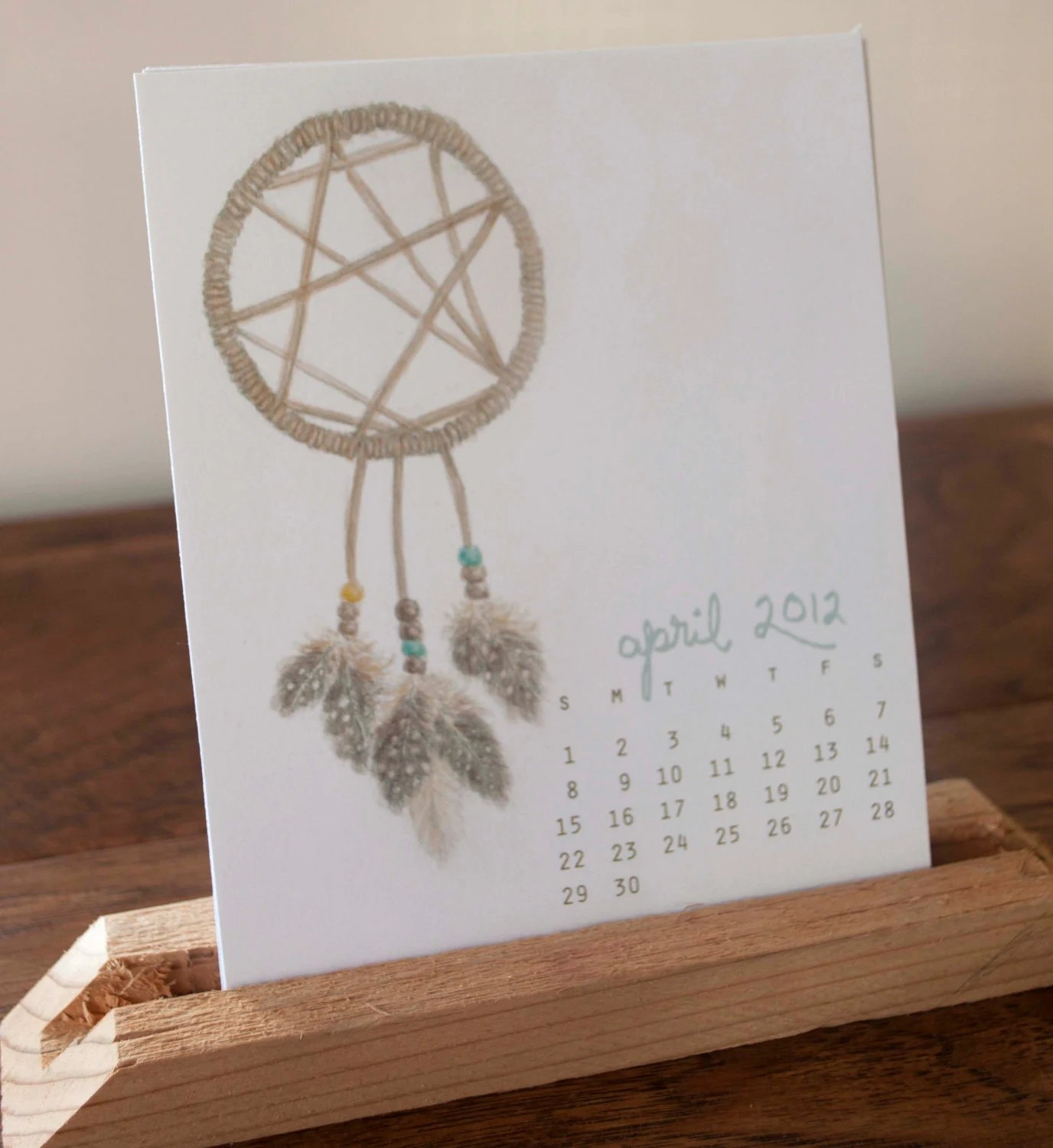 2012 Desktop Calendar - Original Watercolor & Pencil