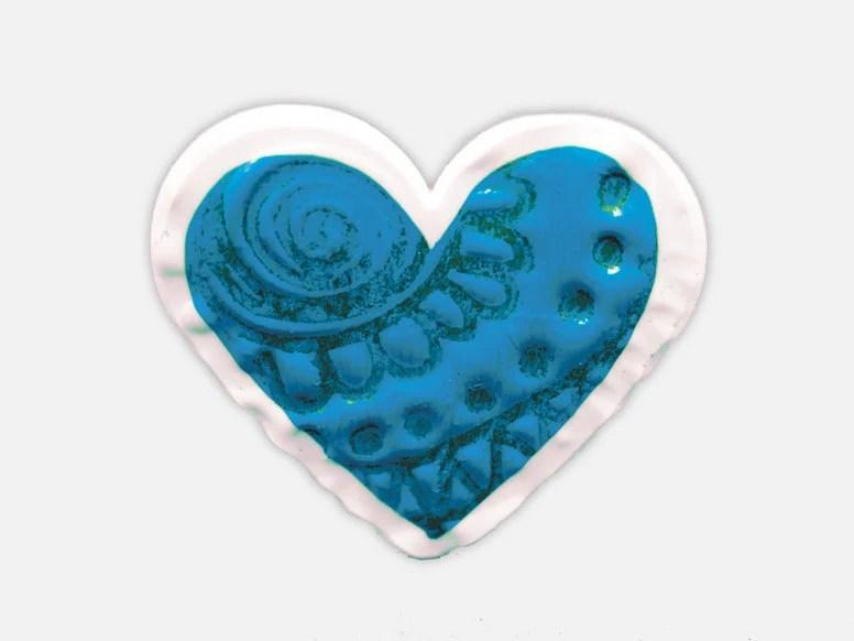 Fun Handmade Jewelry - Blue Heart Ring, Adjustable Plastic Ring