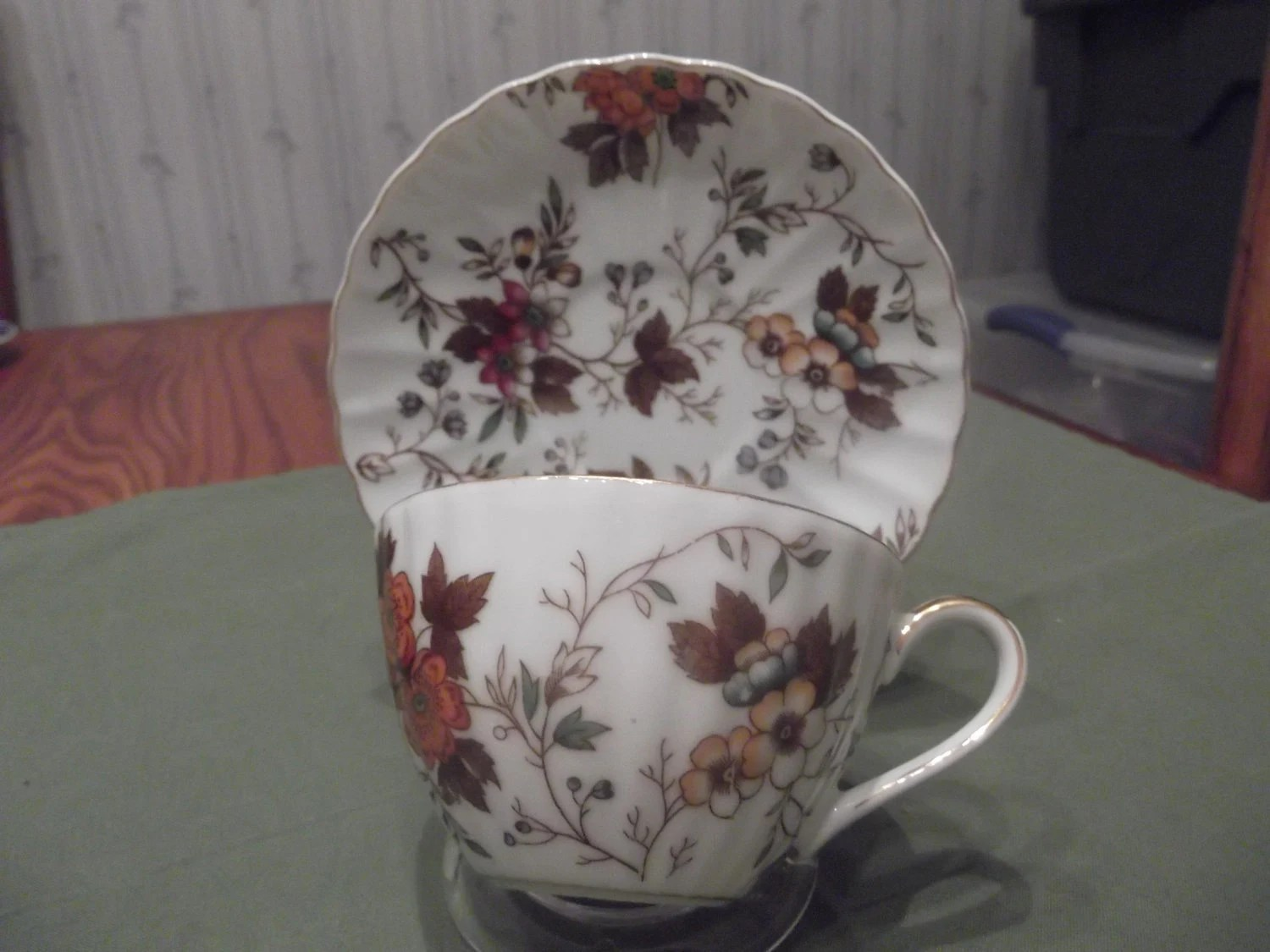 Floral cup and saucer called Autumn Glory circa unknown