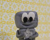 You are a star polymer clay Robot- gift or birthday