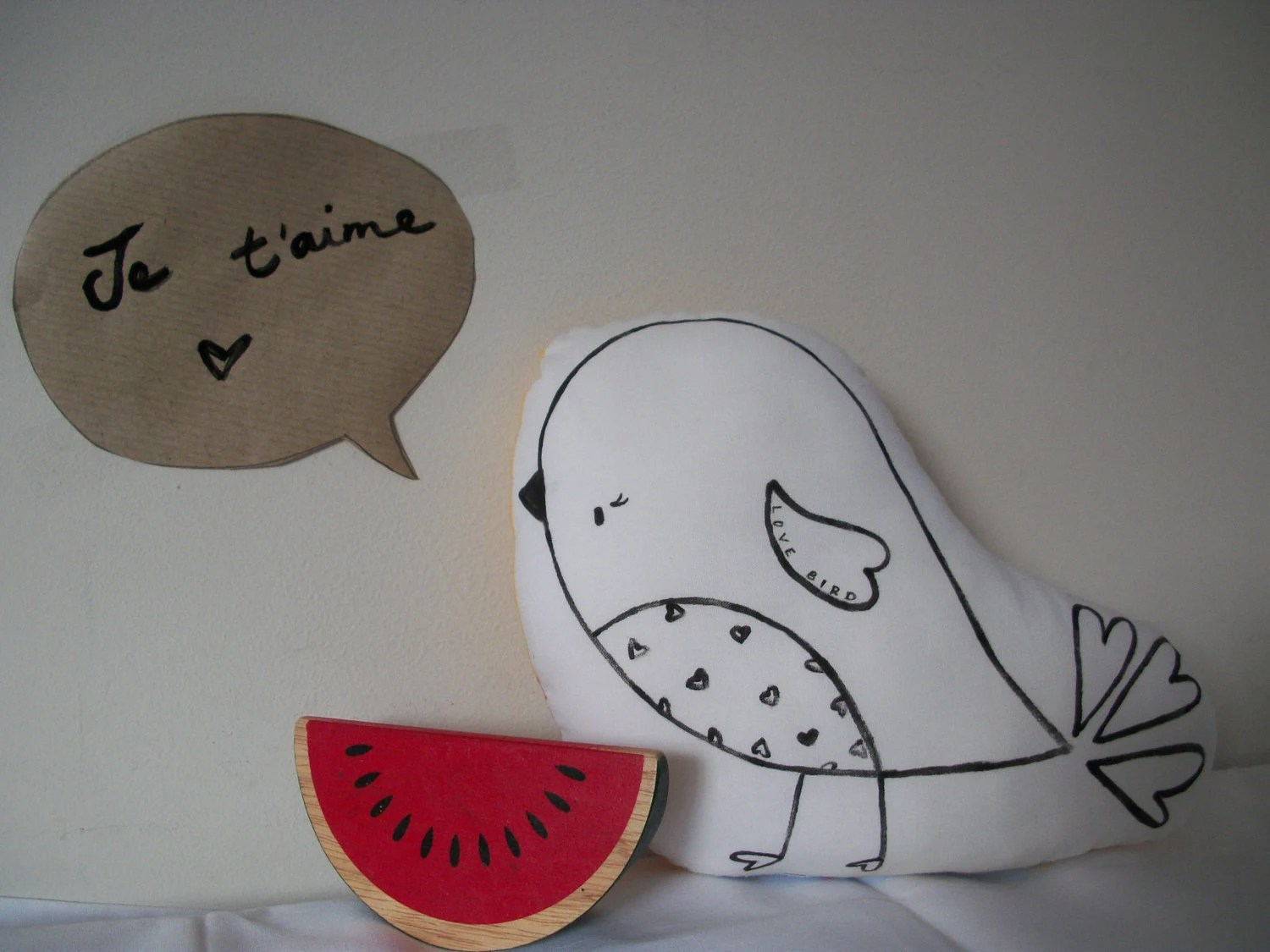 Little Love Bird Sweet Handpainted Softie - LittleFridayDesigns