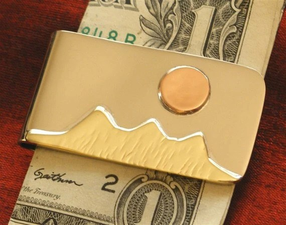 Mountain Moon Money Clip Wallet - Gifts for Dad - Moneyclip MC-26 - jammerjewelry