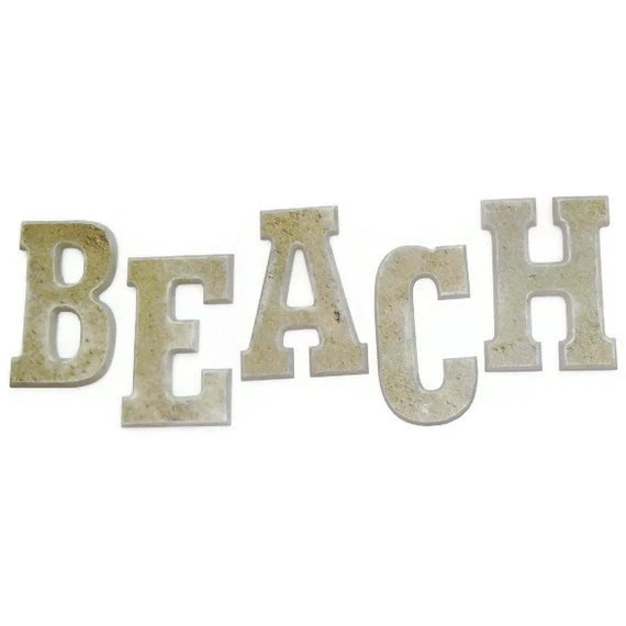 BEACH Letters - HookUUpCustomCrafts