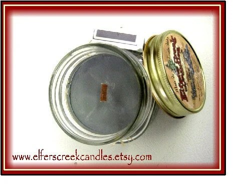 8oz Salmon River Driftwood /  Wood  Wick Candle  /  Soy Candle / w/ Matches / Free Soy Melt w/ 20 dollar purchase / 40to 45 hour burn