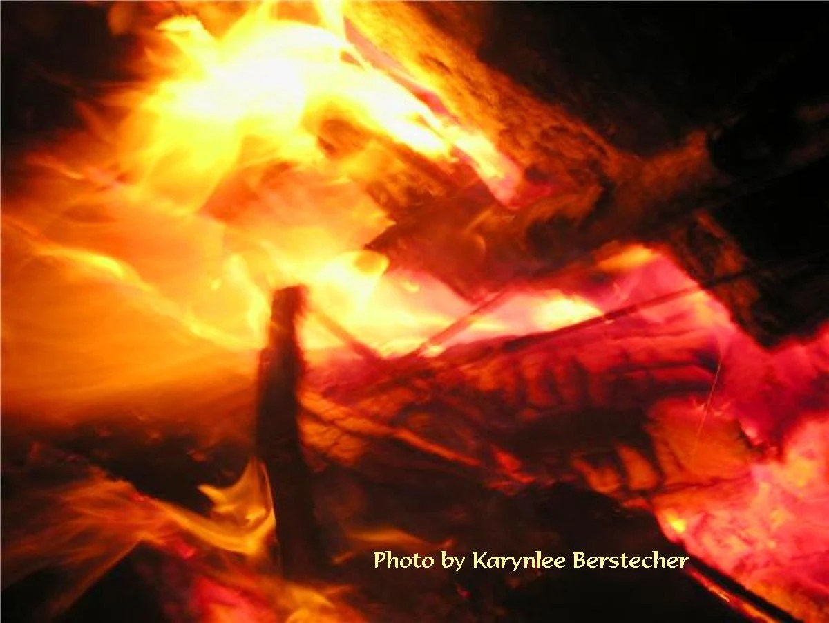 Through the fire---8 x 10 matted image
