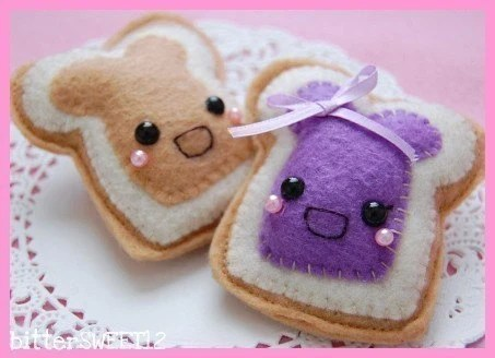 Mr. Mrs. Peanut Butter and  Jelly Brooches