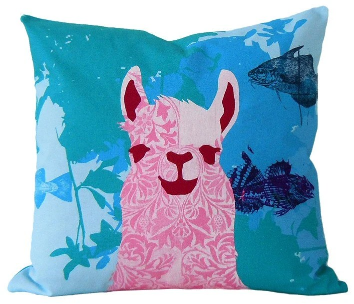 pillow case Llama Aquatic