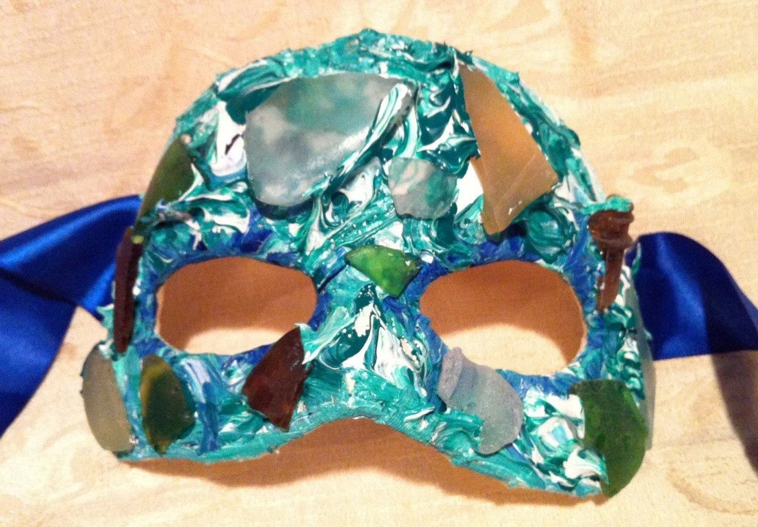 Mermaid/Masquerade/Holiday/Mardi Gras/Ocean/Sea Glass/Costume/Halloween Mask