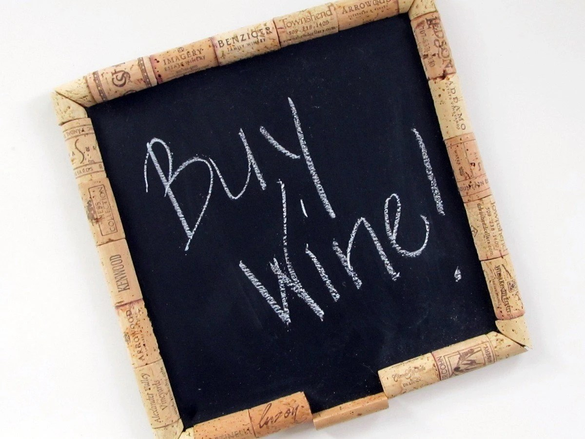 Wine Cork Chalk Board