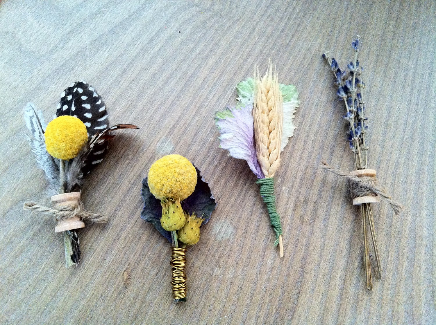 Lavender VEGAN Boutonniere by The Boutonniery