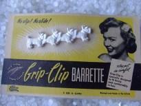 vintage barrette row of Scottie dogs Rare still on card