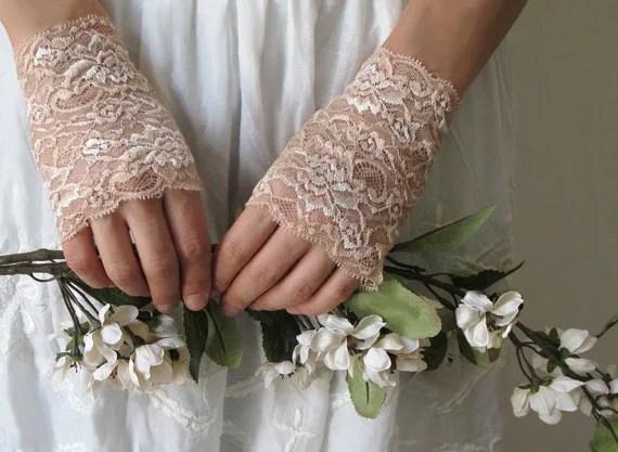 Lace Gloves, wedding accessory CREAM, bridal accessory, fairy, ivory