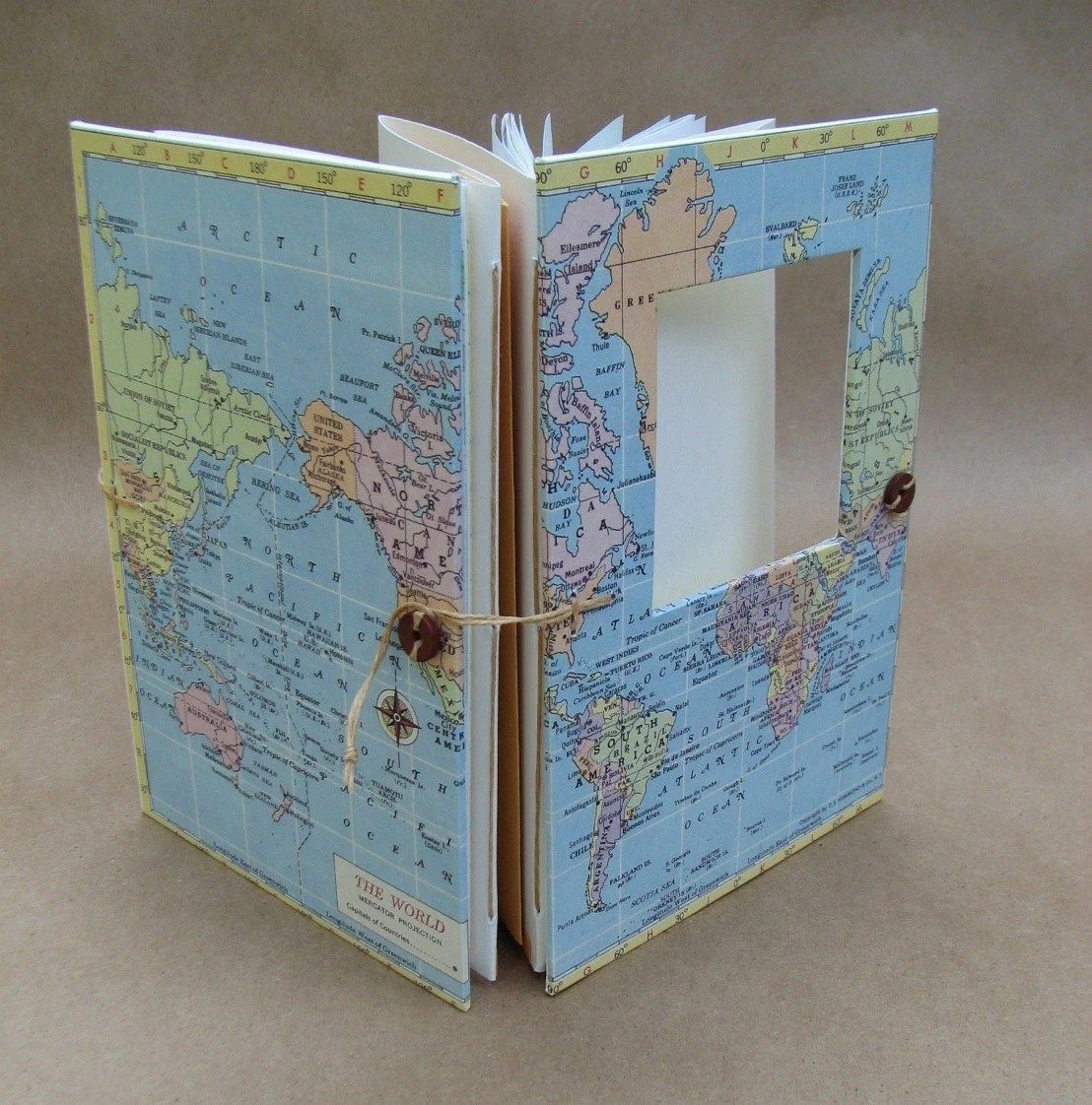 World Traveler Versatile Travel Notebook for Art, Photos and Writing - Made to Order