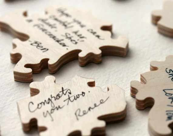 Wedding Guest Book Puzzle WOOD (A guest book alternative) 120 pieces