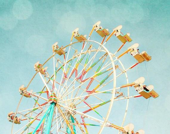 Ferris Wheel Photograph - Nursery Wall Decor - Amusement Park Photograph - Contemporary Fine Art Photography - small 8x10 print