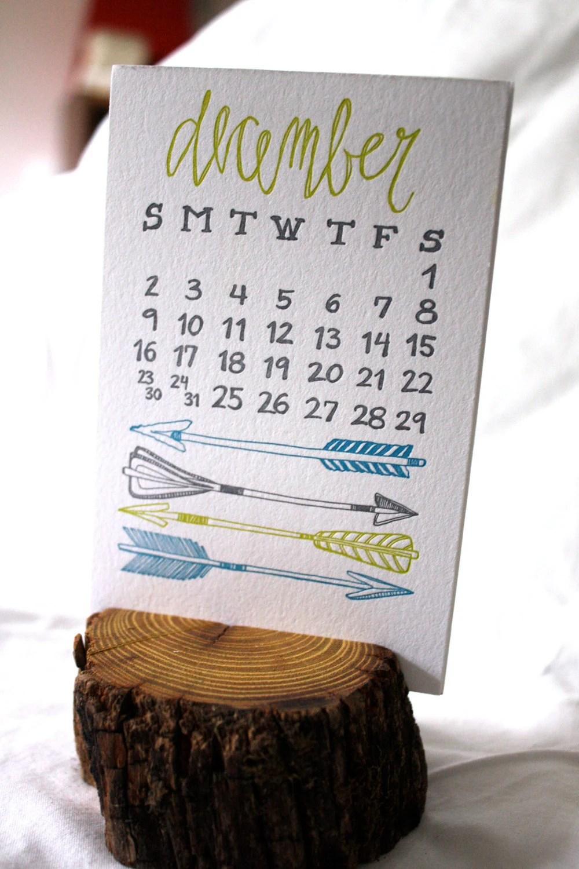 1canoe2 letterpress calendar