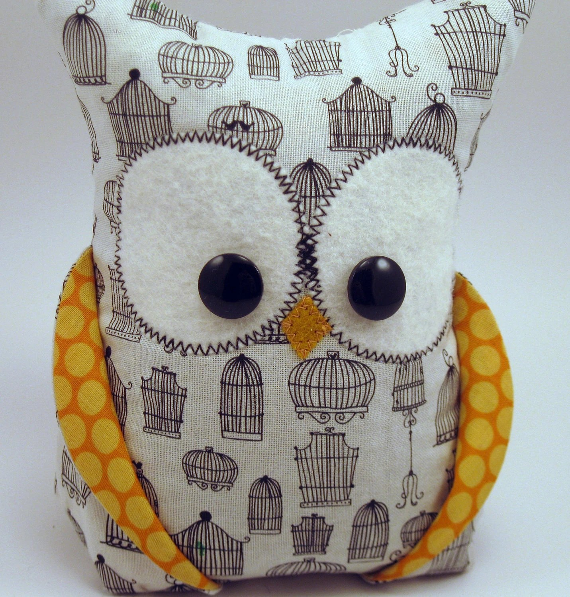 Owl bookend for organization designer fabrics