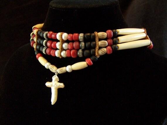 Body of Christ Choker Necklace by PrimitiveDesignsTX