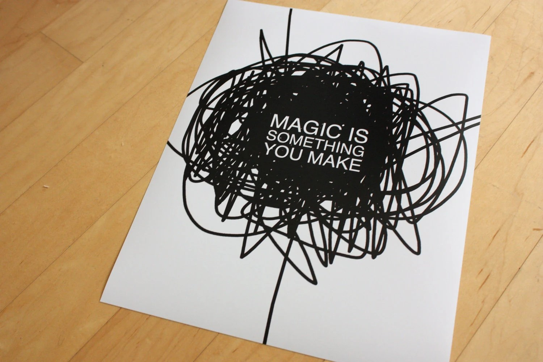 MAGIC poster print