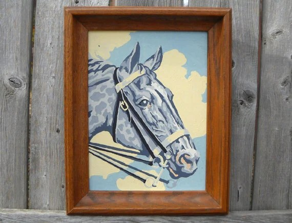 vintage horse paint-by-numbers