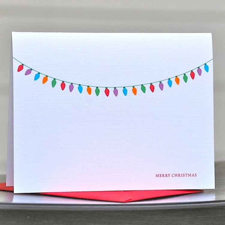 Christmas Cards / Holiday Cards / Personalized Christmas Cards - Chunky Christmas Lights