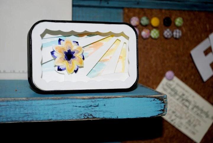 Papercut Watercolor Altoid Tin Shadowbox