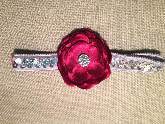 Scarlet and Silver Chloe Headband