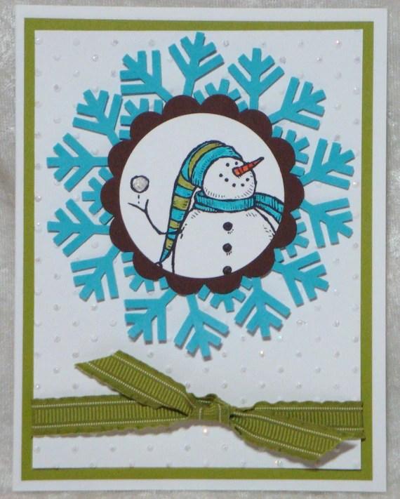 Holiday Christmas Snowman Cards 4pk set