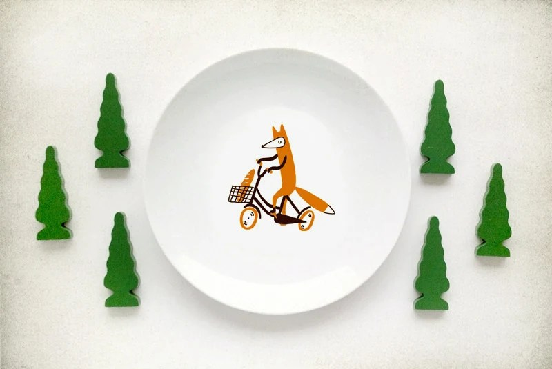 Fox Plate by kokokoshop