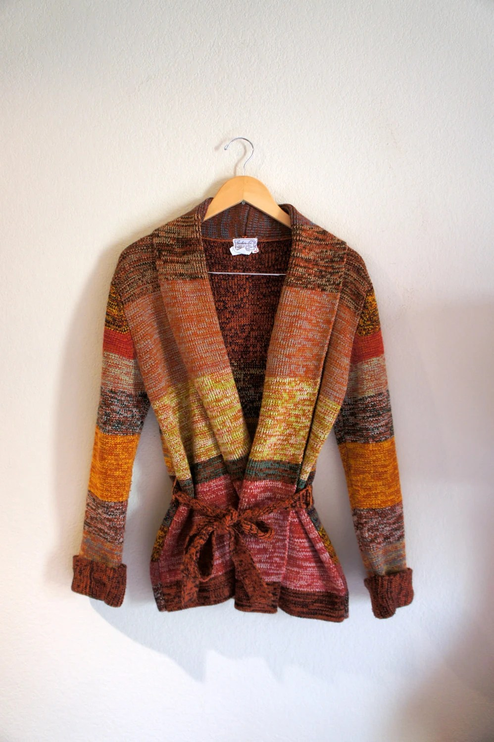1970's Space Dye Wrap Cardigan from thriftingcoups on Etsy