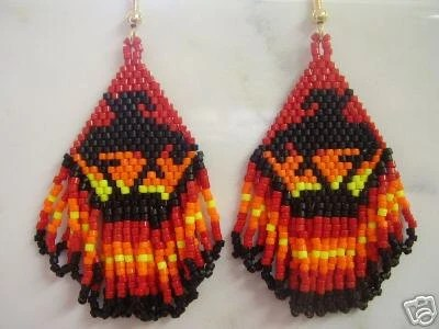 Native American End of the Trail Beaded Earrings