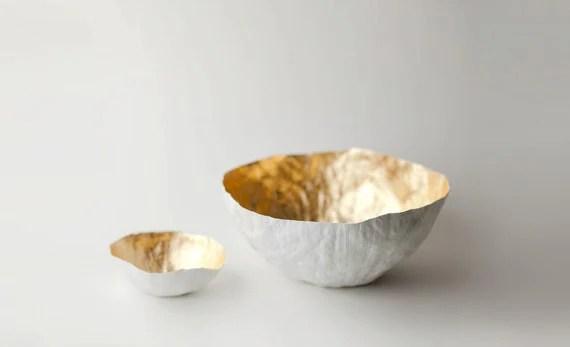 Large Gold Paper Bowl