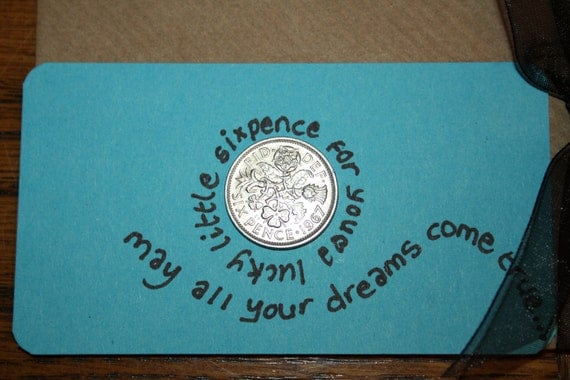 Your lucky sixpence - can be personalized