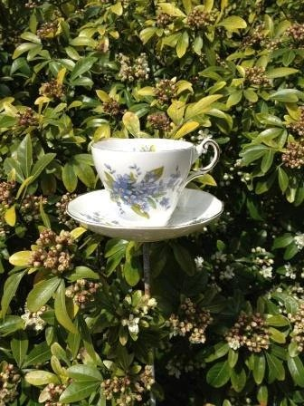 Bone China Teacup Wild Bird Feeder from AusterityGlamour
