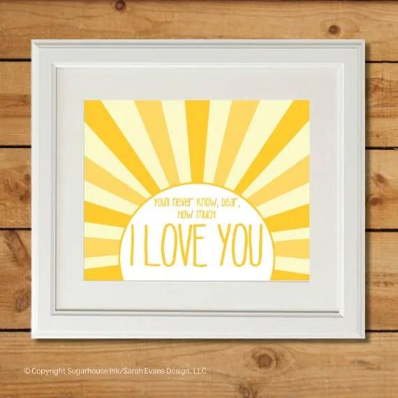 You Are My Sunshine - Printable Art - Nursery Art - sugarhouseink