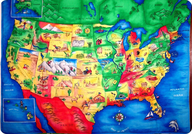 Kid Maps And Usa Maps