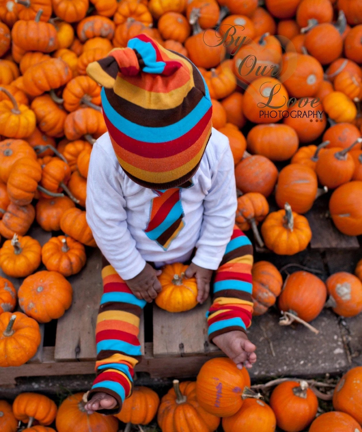 Autumn Stripes Leg Warmers and Hat Combo from KOOL KID