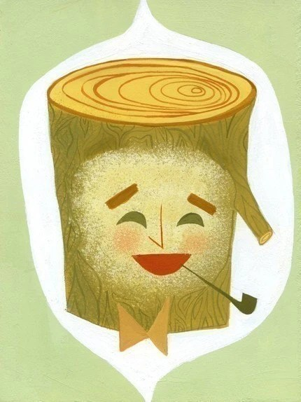 Charles Eames as a log by Matte Stephens.