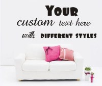 Large Custom Vinyl Wall Quote Decal Sticker, Art Words