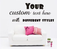 Large Custom Vinyl Wall Quote Decal Sticker, Art Words ...