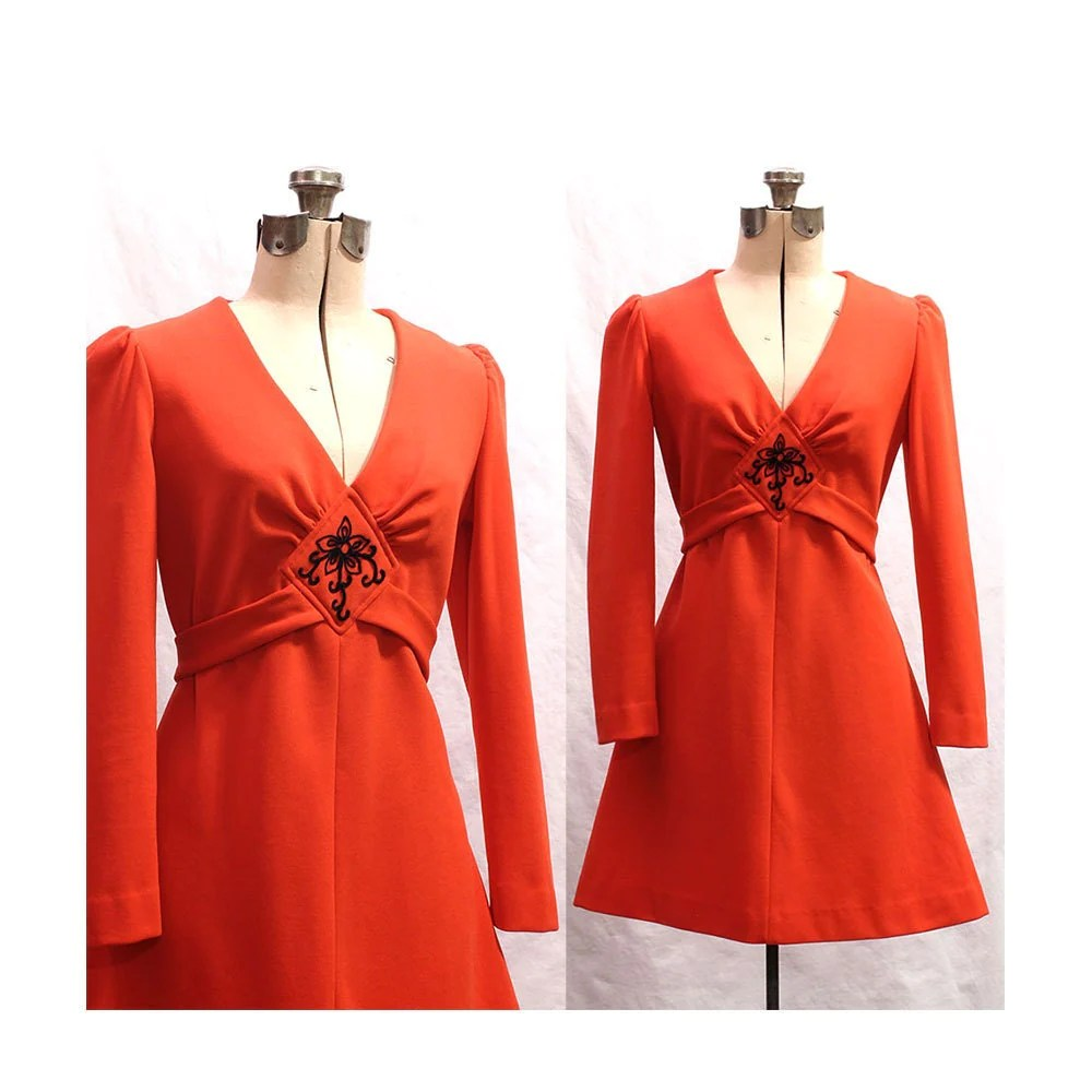 Orange Blossom dress from BoonieBoutique on Etsy
