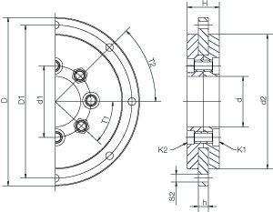 PRT-01-100 100mmID x 185mmOD x 34mmW Aluminum/iglide® J
